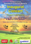 Poster of Inaugural Concert - 29th October 2011 - Click to enlarge