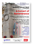 A Concert of Remembrance. Saturday 14th November 2015